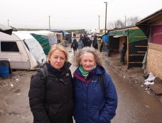 JJ and Natalie Bennett on their second visit to the Calais Jungle